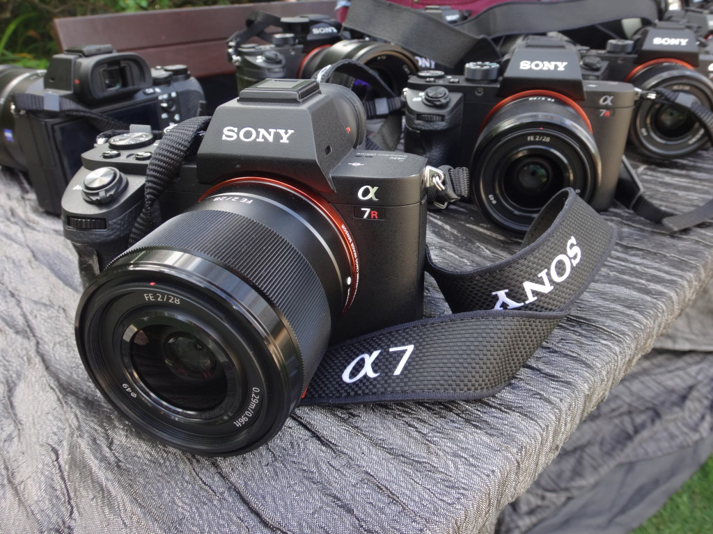 Sony a7RII cameras waiting for the media to test out.