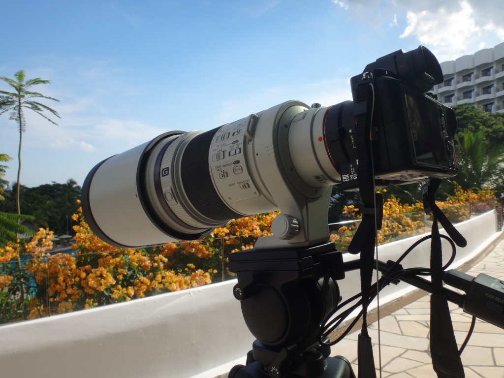 The telephoto lens was pointing towards the beach.