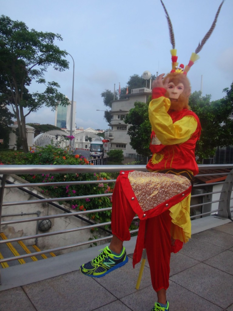 The Monkey King strikes a pose for my camera.