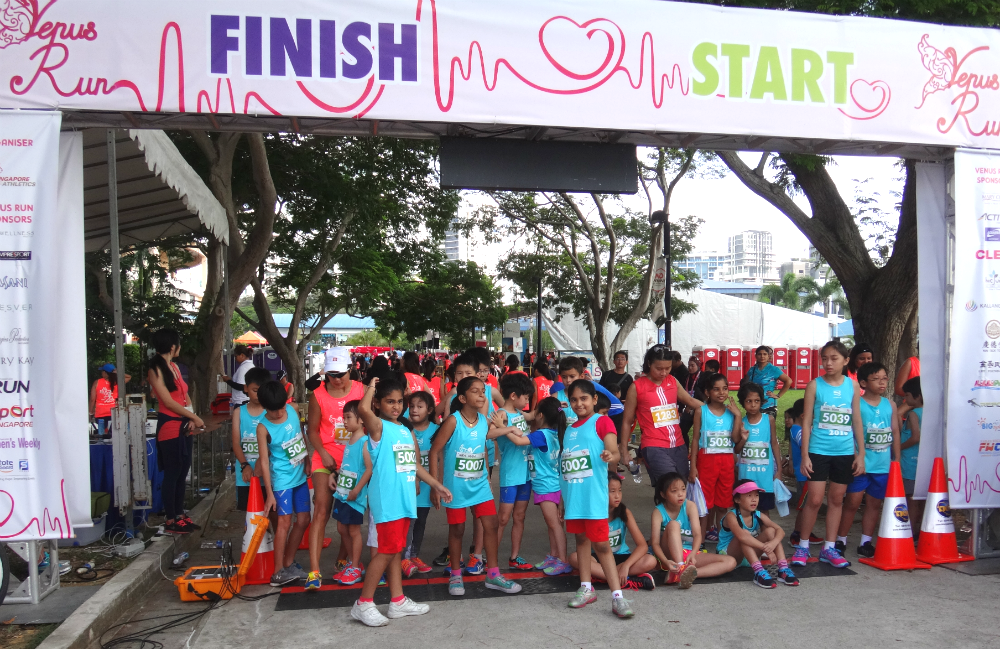 Kids waiting at the starting line of Venus Run 2016.