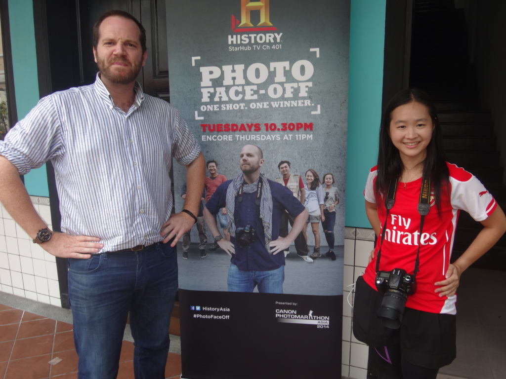 With Photo Face Off's resident professional photgrapher, Justin Mott.
