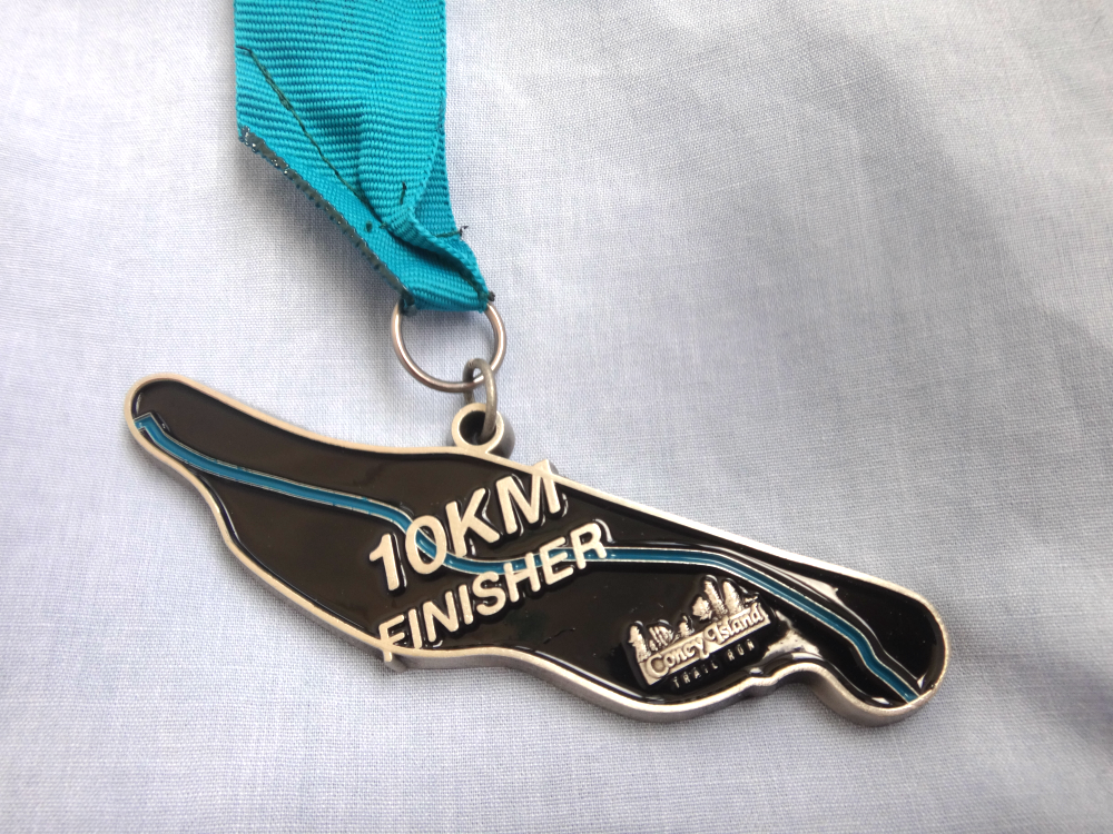 The finisher medal was beautiful.