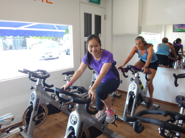 Exercising on the spinning bikes feels very different at Altitude Gym.