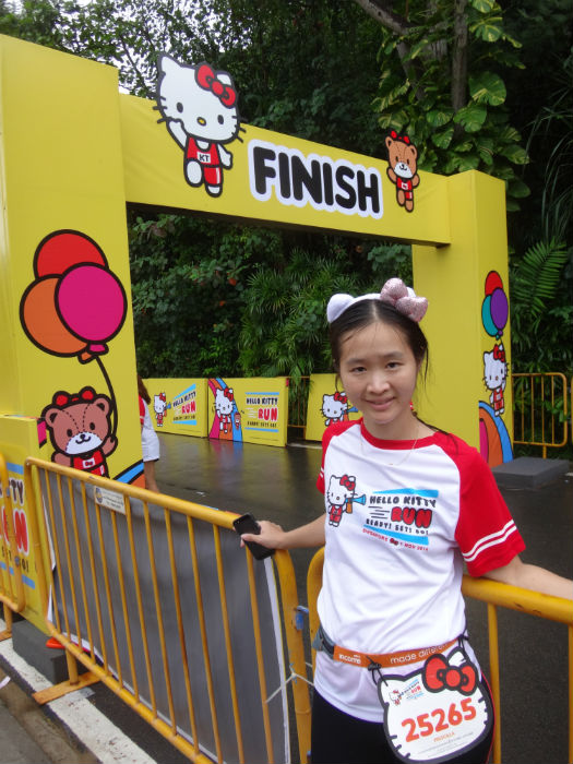 At the end of the Hello Kitty Run.