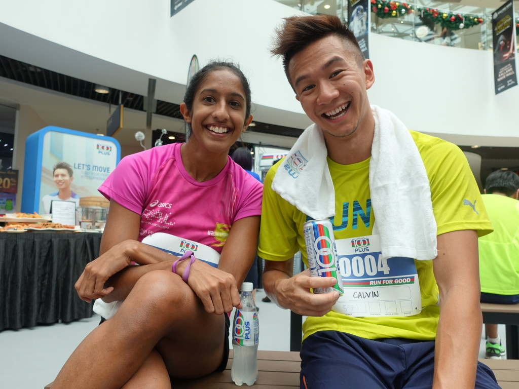 All smiles after running for charity.