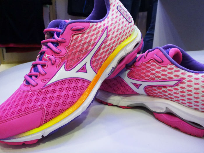 A pair of these pink Mizuno Wave Rider 18 shoes were presented to me, at the end of the event.