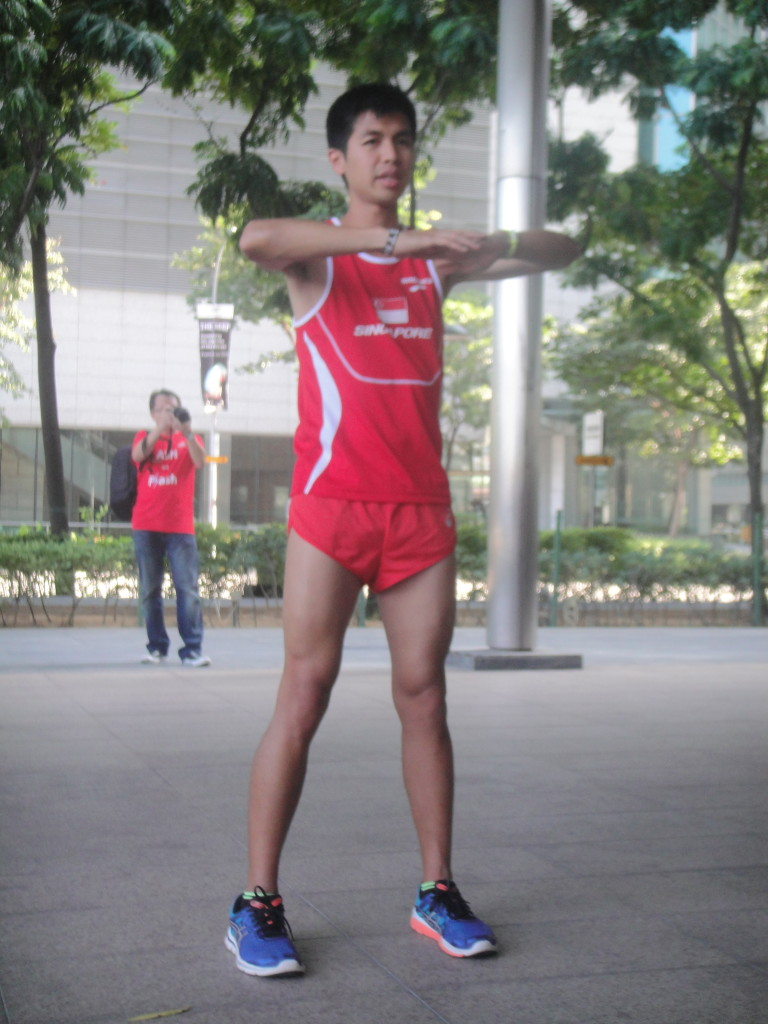 National marathon runner Ashley Liew.