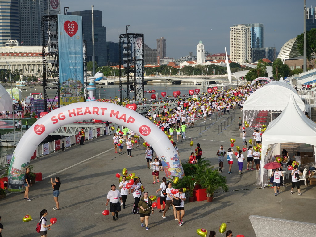 The SG Heart Map festival was the most interesting part of the route too.