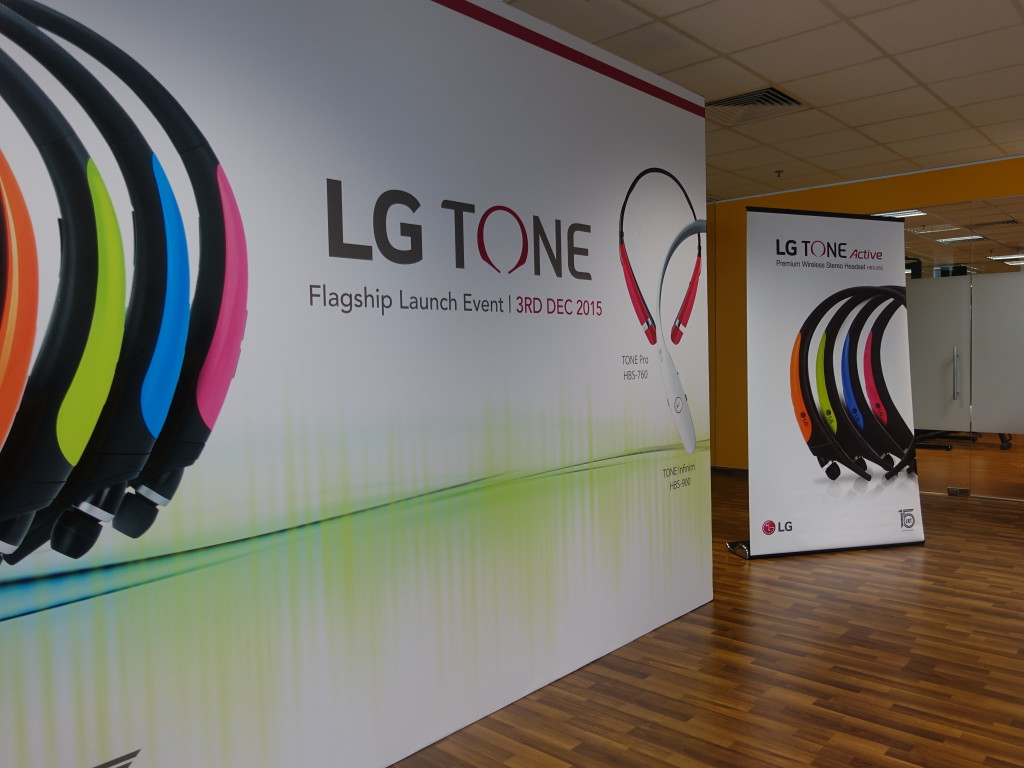 The launch event of the LG TONE Active took place recently.