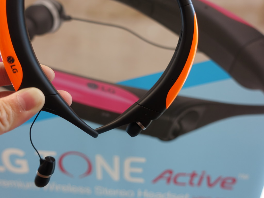 The LG TONE Active is good in the sense that the earbuds are retractable.