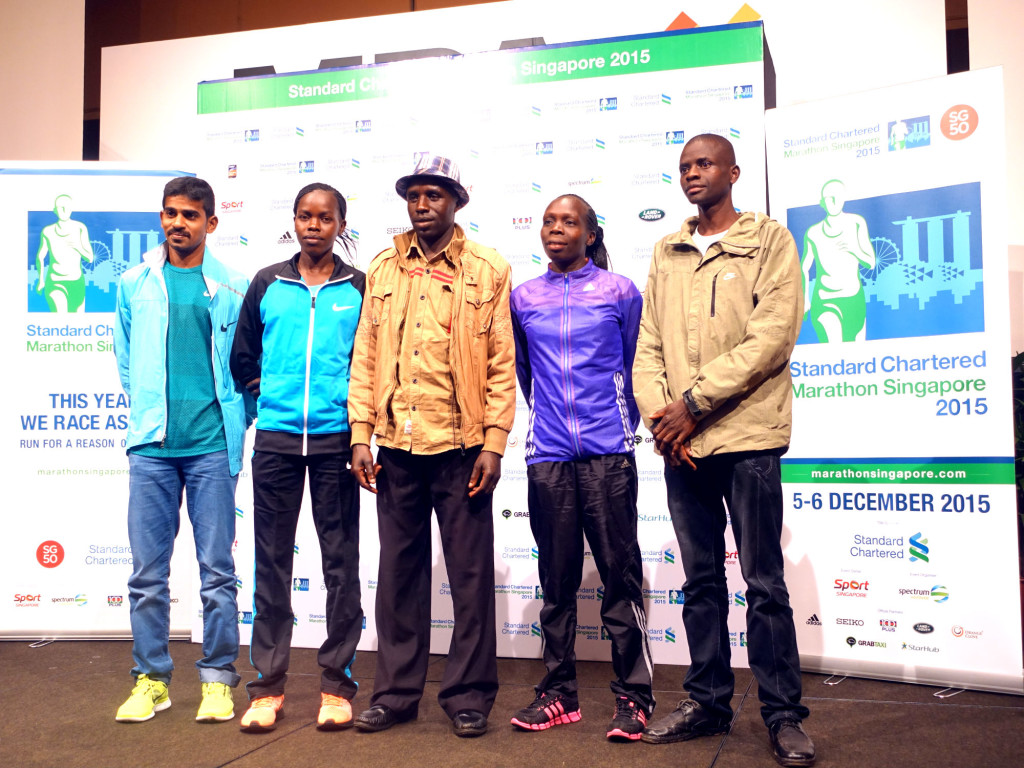 The elite field at the SCMS 2015 press conference.