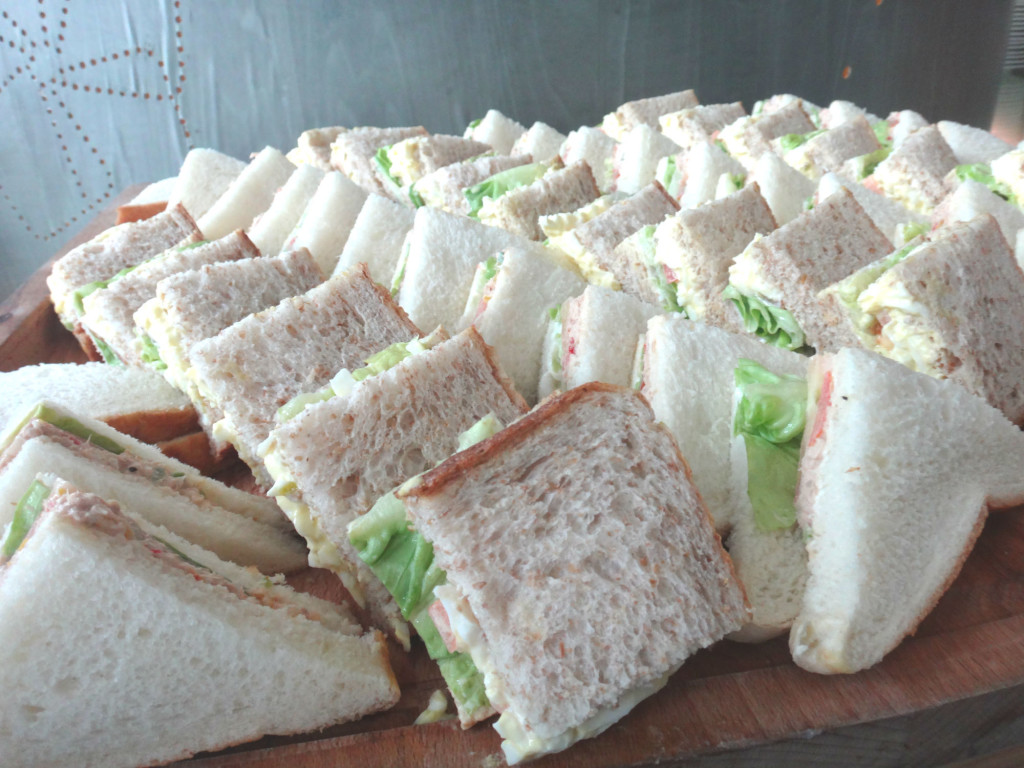 Sandwiches are a great source of carbo loading for cyclists.
