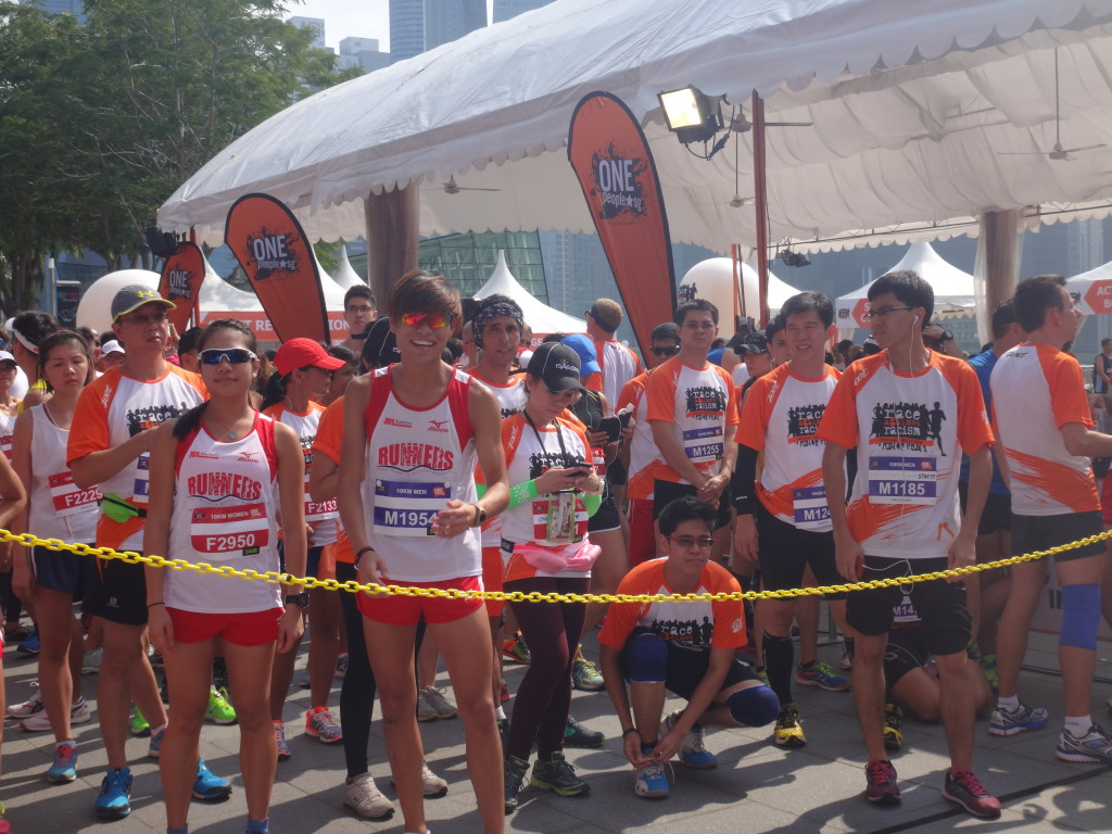 Energetic runners excited to flag off!