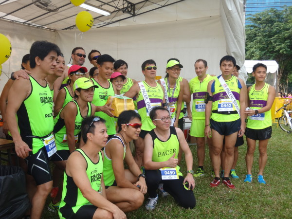 Visually impaired runners are amongst the pacers at the inaugural Runninghour 2015.