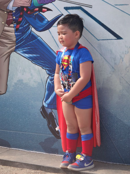 A young Superman.