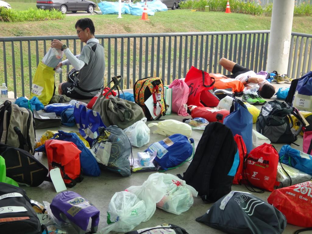 Drop bags galore at CP5.