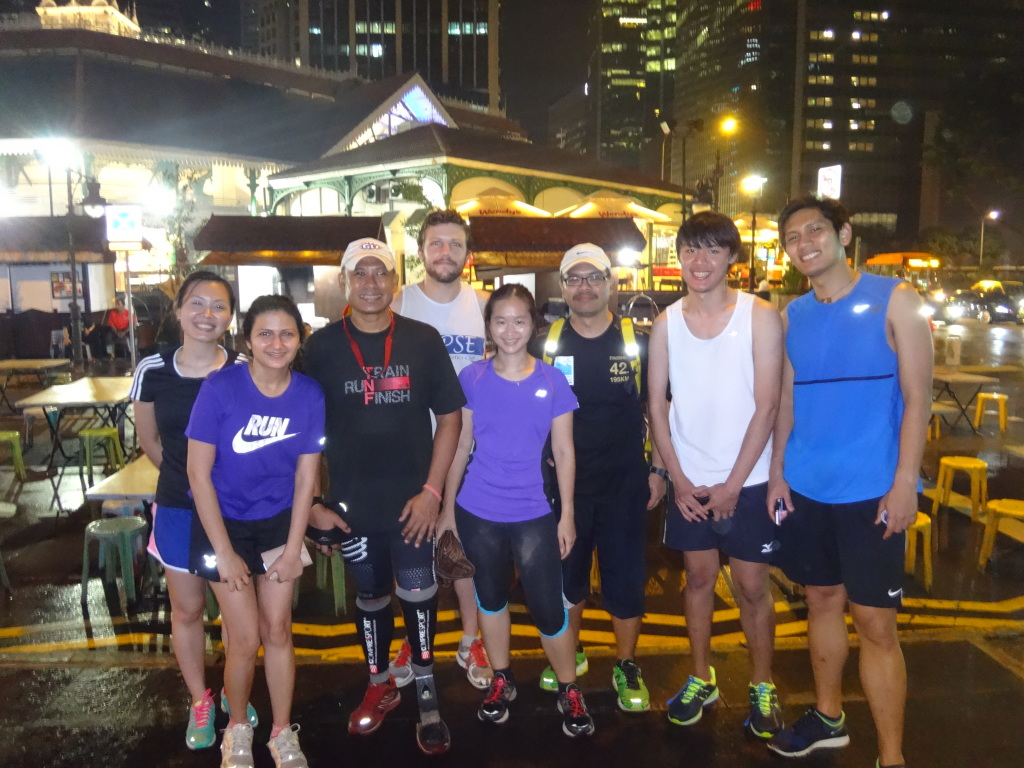 With the Singapore Blade Runner and some of his Ekiden team mates for SCMS 2014.