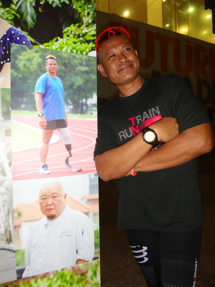 Singapore Blade Runner hopes to inspire other runners at the SCMS Ekiden.