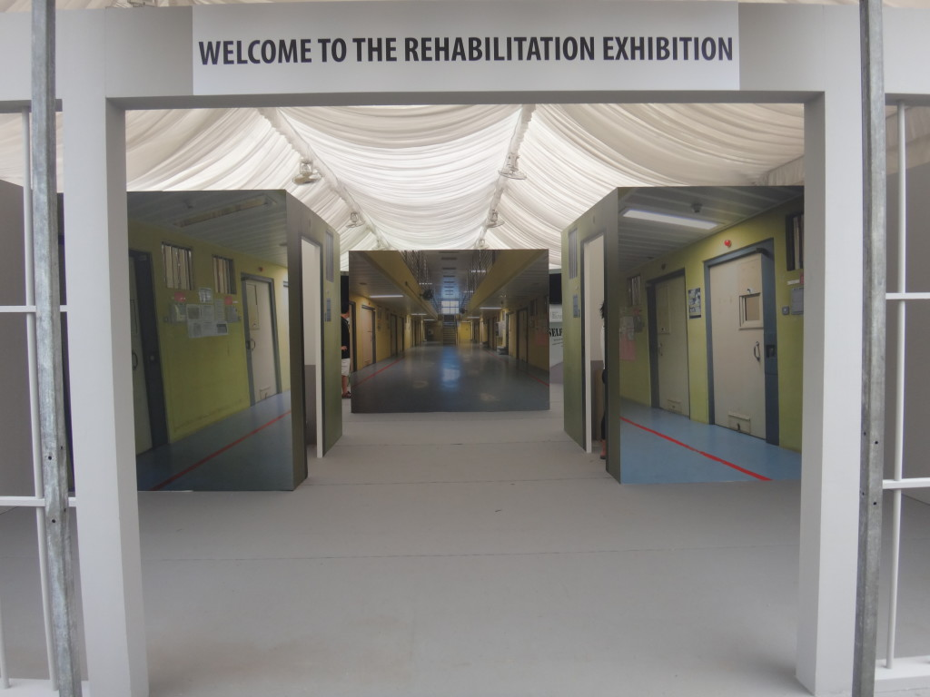 The entrance to the rehabilitation exhibition for the inmates.