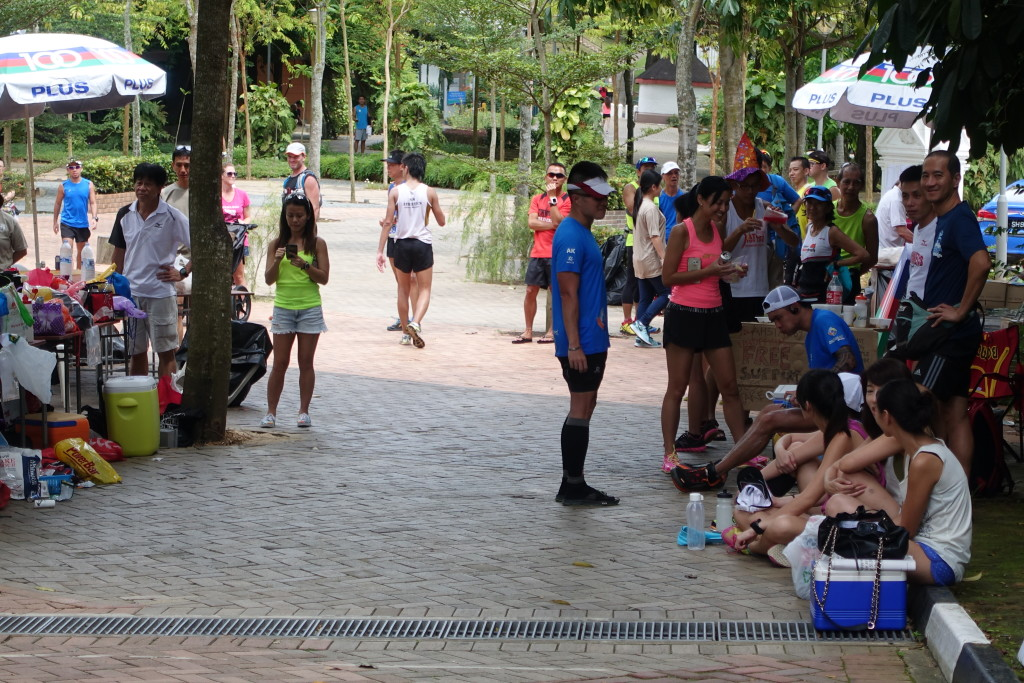 The scene at MacRitchie Reservoir is bustling.