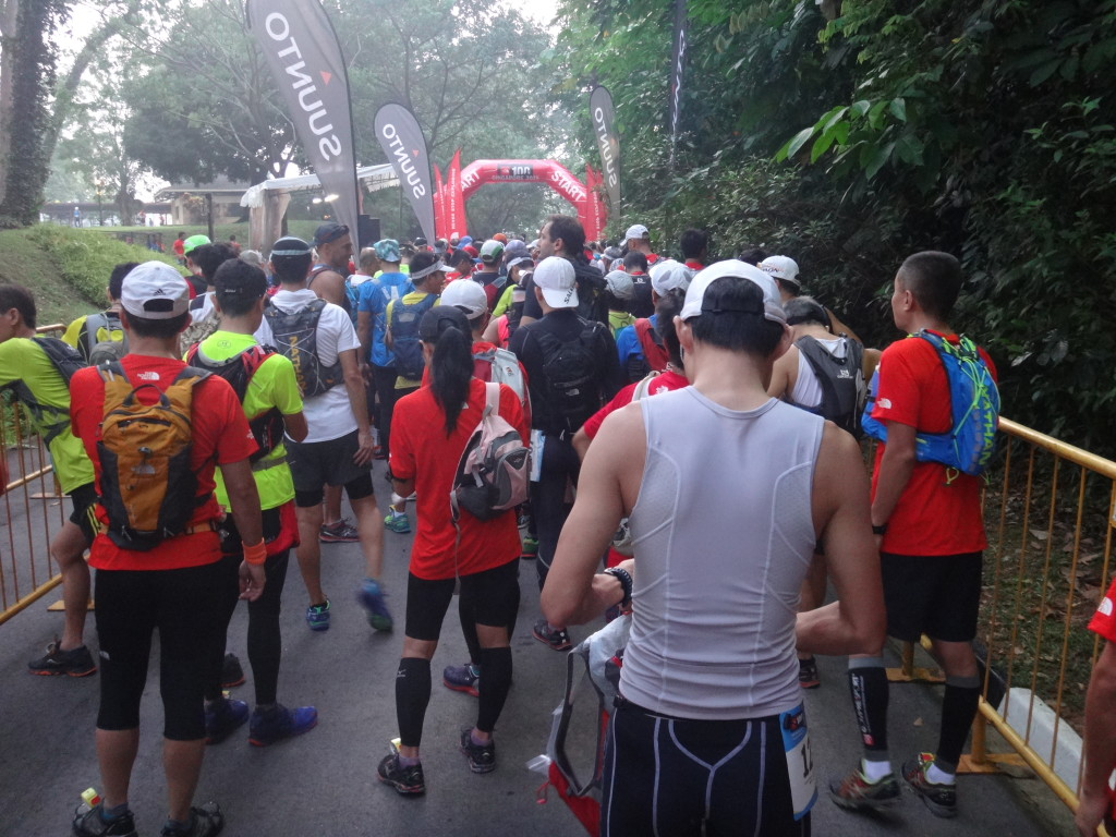 The 50km starting pen at TNF100.