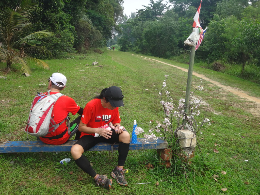 Runners taking a rest.
