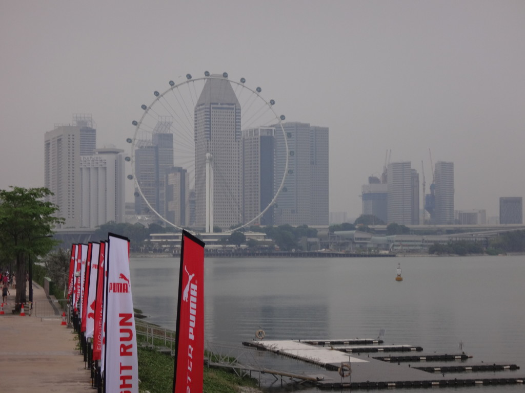 We ran past some beautiful sights like the Singapore Flyer.