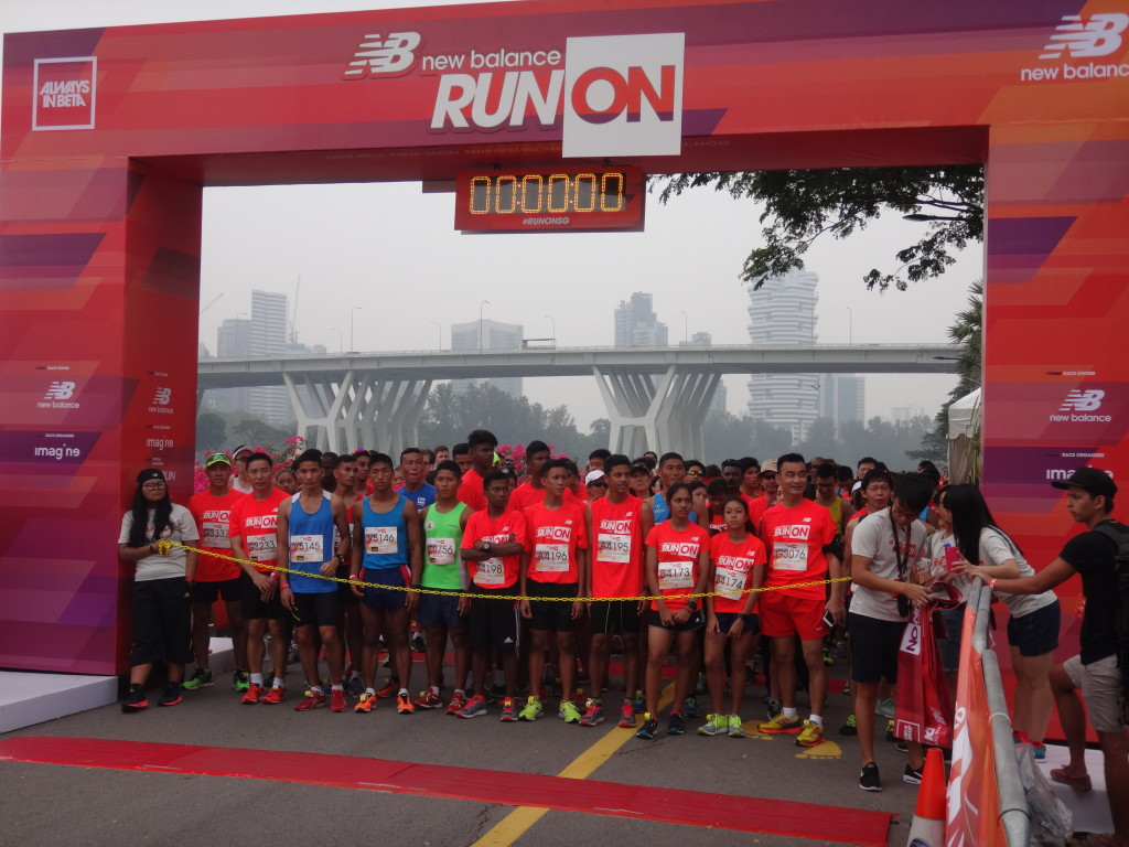 The starting line at NB Run On Singapore 2015.