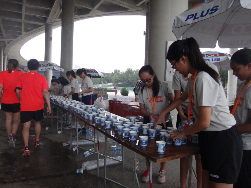 Hydration station at about 3km.