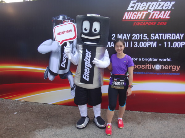 Got a nice photo with the cute Energiser mascot.