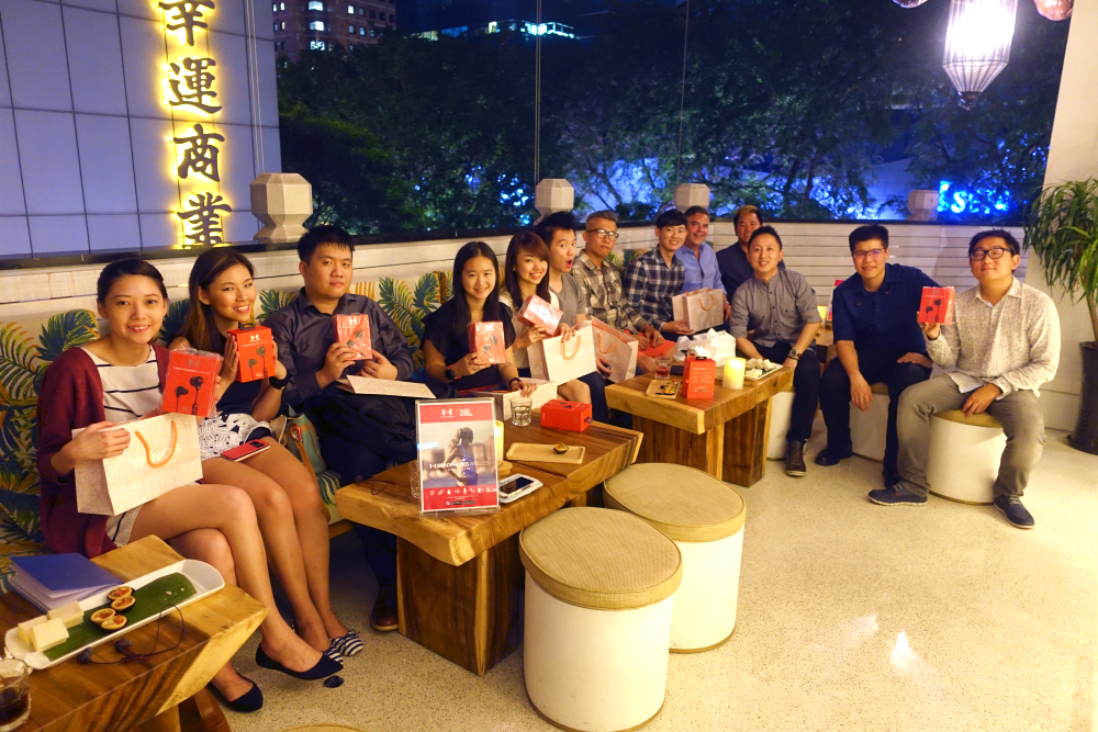 Members of the media met at the launch event at Tangs Orchard.