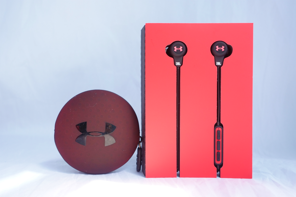 The headphones are sweat proof and they are packaged together with a cute carrying case.