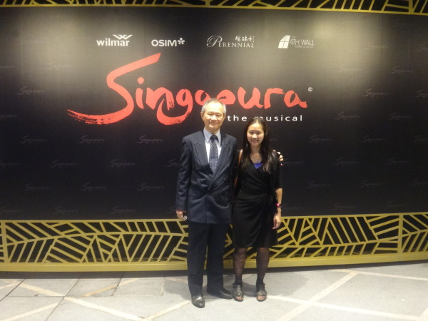 With Dad at the premiere of Singapura: The Musical.