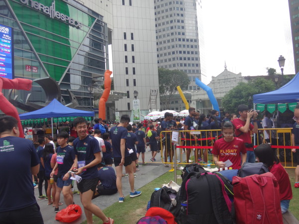 The carnival atmosphere at the National Vertical Marathon 2015.