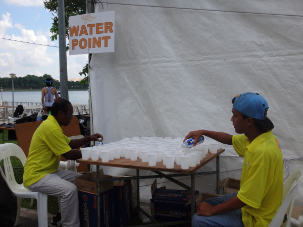 One of the two hydration points at the run.