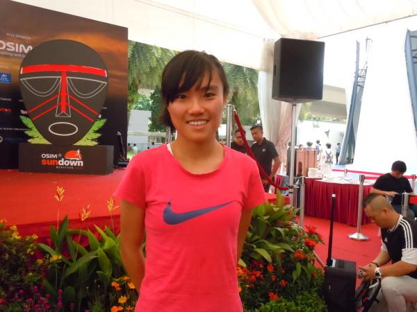 Mok Ying Rong, one of Singapore's elite female runners. She will be running 21.1KM at Sundown Marathon.