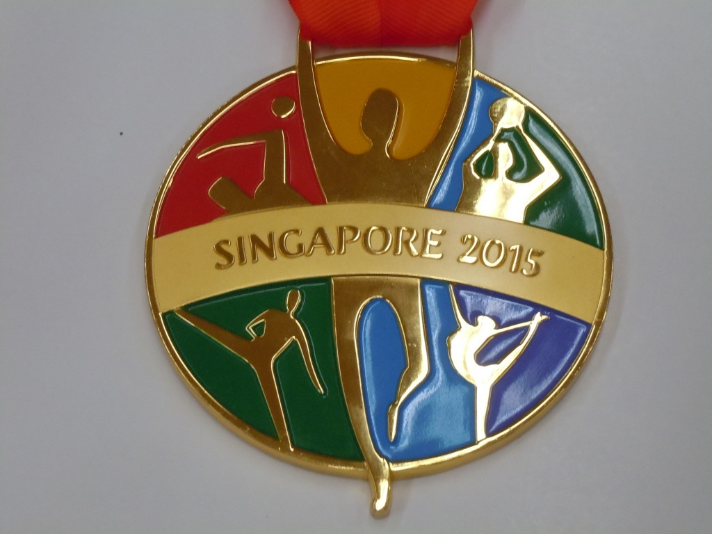 SEA Games marathon winner's medal - the other side.