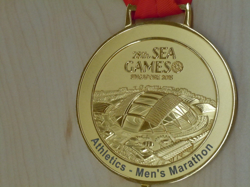 Soh's SEA Games marathon medal.