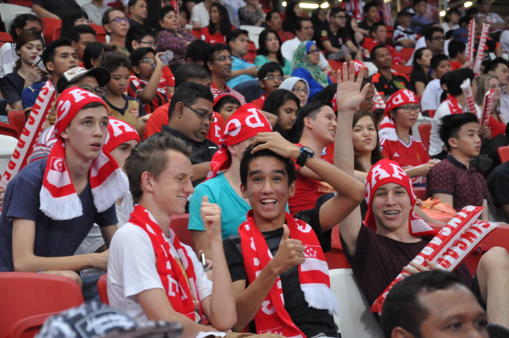 There were plenty of passionate Singaporeans in support of their country's football team.