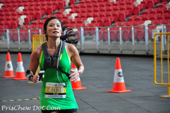 Some runners gave their all, but others used the run for training.