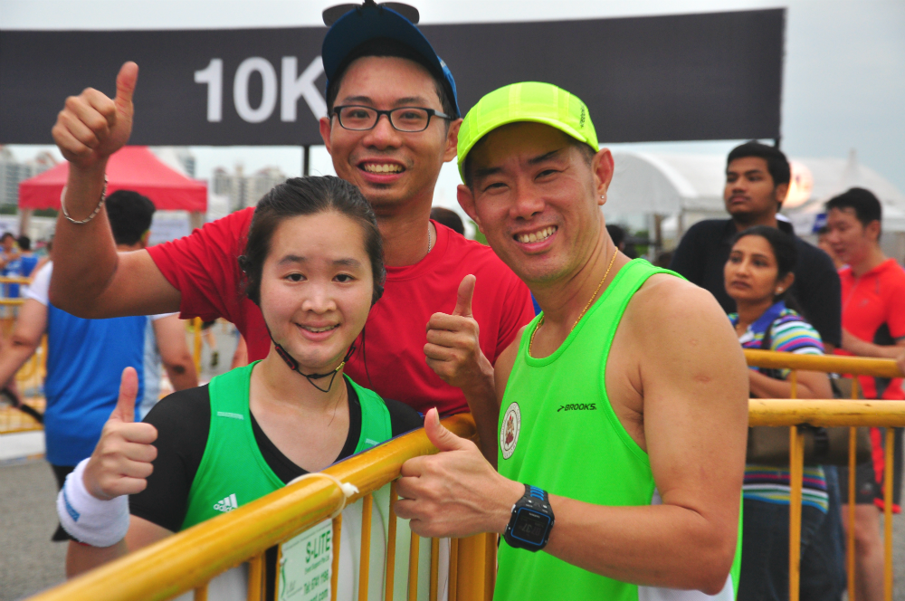 With a couple of friends after the race.