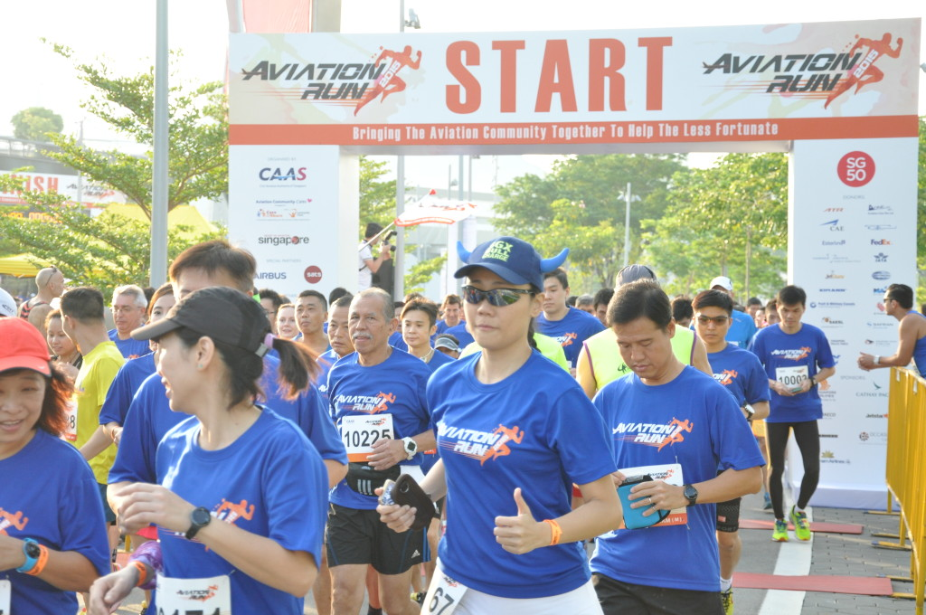 Runners at the Aviation Run 2015.