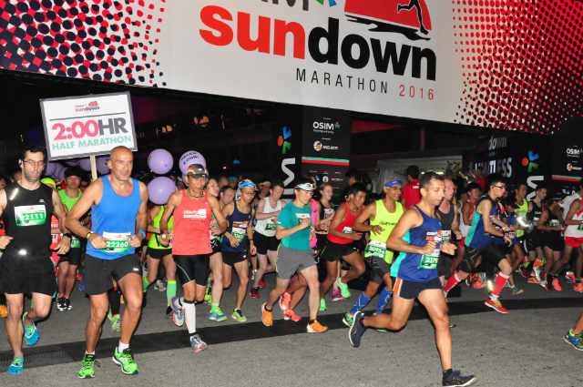Sundown Marathon is the largest night race in the region.