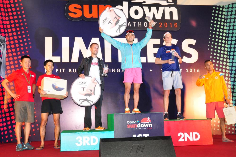Male winners for the Full Marathon.
