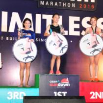 Female winners for the Full Marathon.