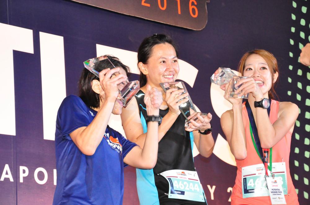 Your top three ladies for the Sundown Marathon.