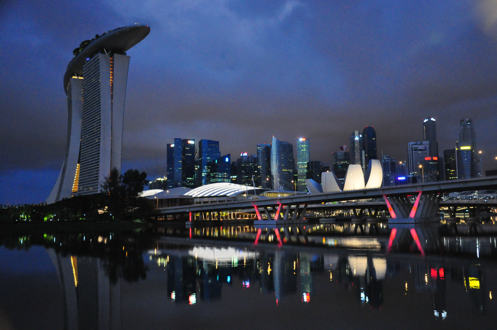 Marina Bay Sands was one of the iconic structures along the route.