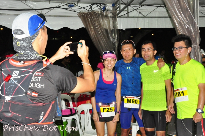 Runners take a photo together.