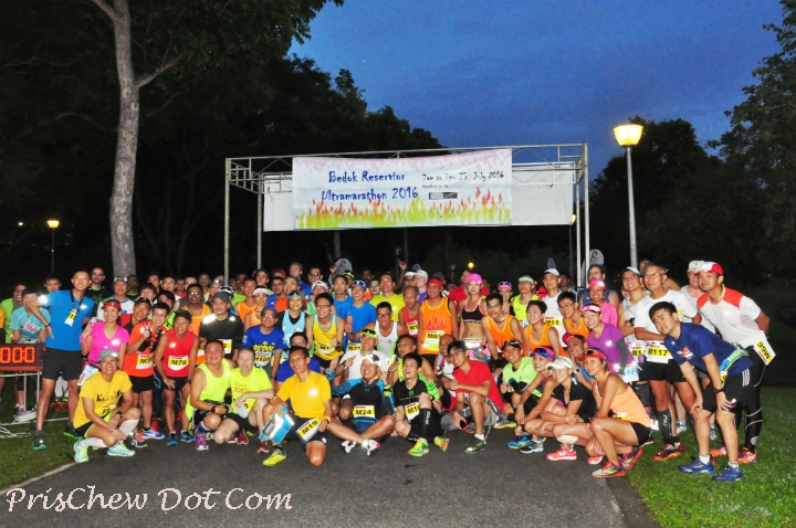 A group shot before the Bedok Ultra runners flag off.