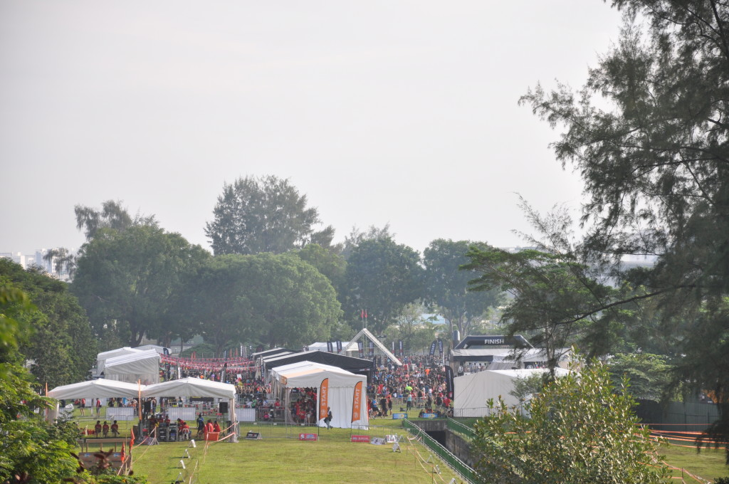 The Race Village from a distance.